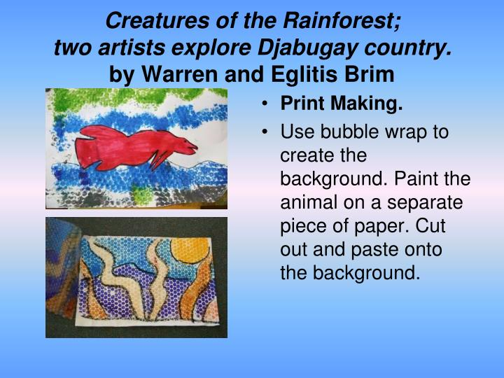 Creatures of the Rainforest;