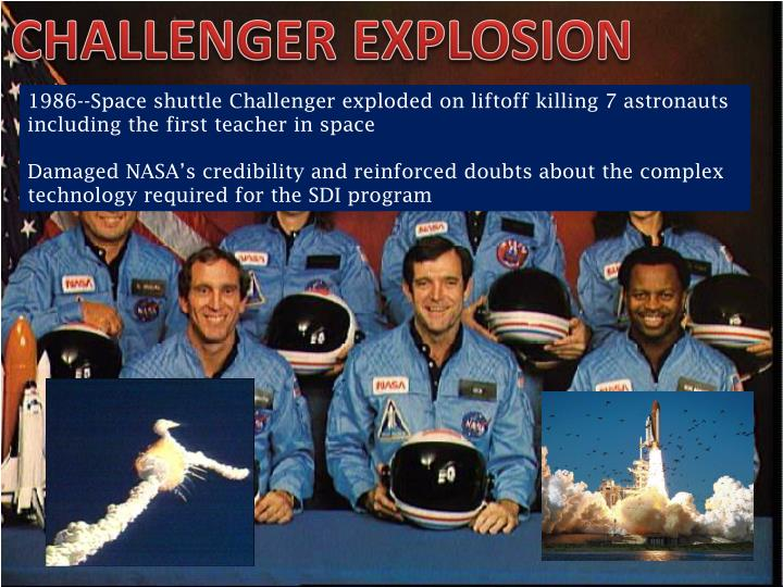 CHALLENGER EXPLOSION