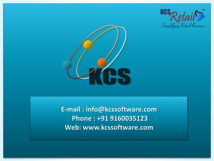 E-mail : info@kcssoftware.com