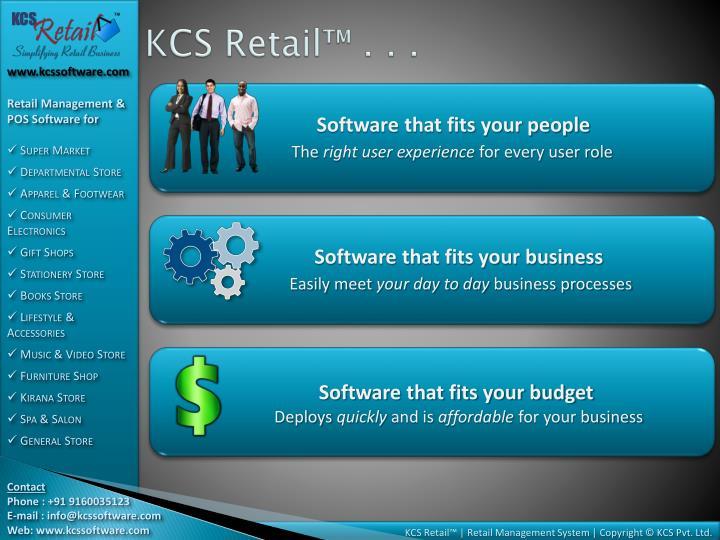 KCS Retail™ . . .