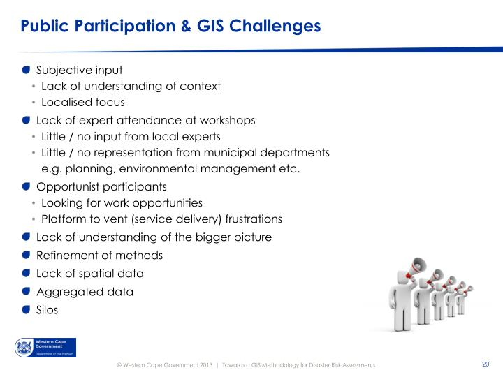 Public Participation & GIS Challenges