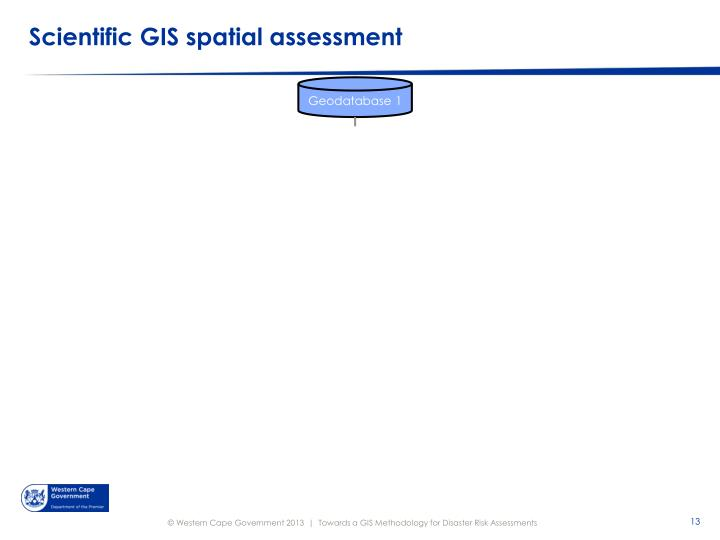 Scientific GIS spatial assessment