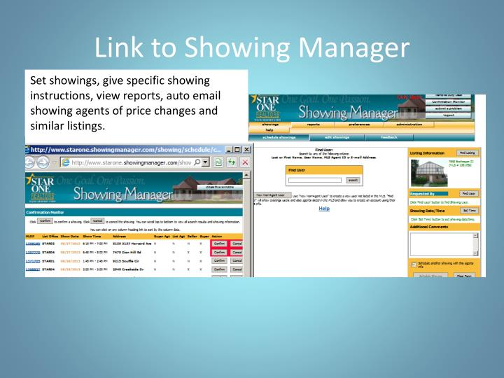Link to Showing Manager