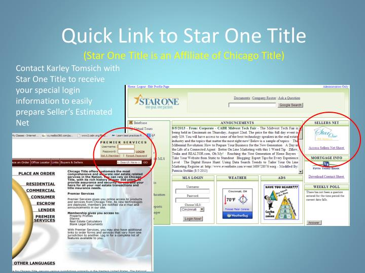 Quick Link to Star One Title