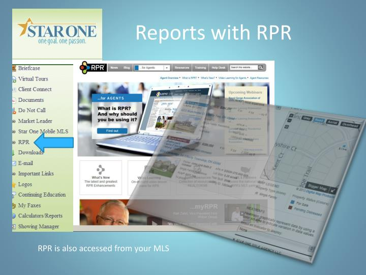 Reports with RPR