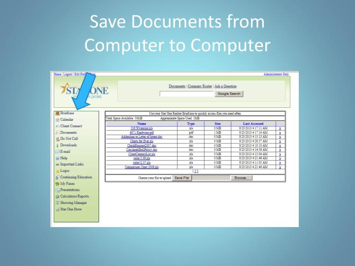 Save Documents from