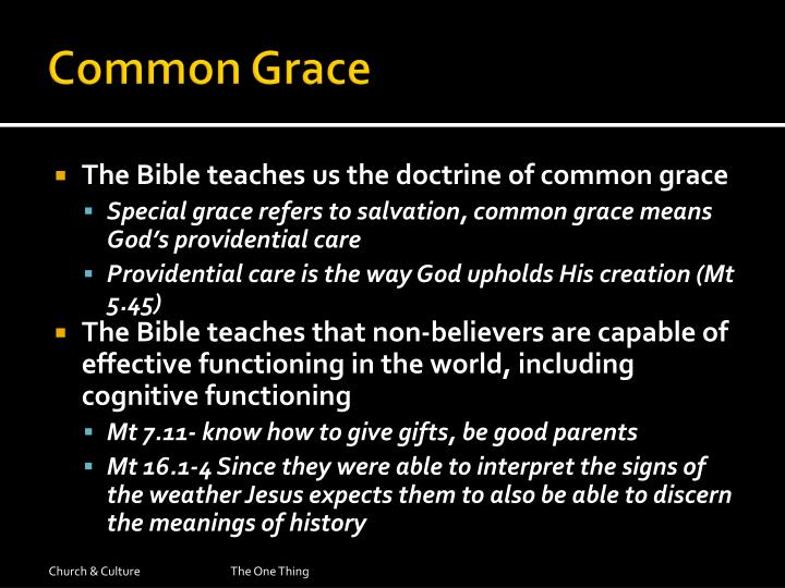 Common Grace