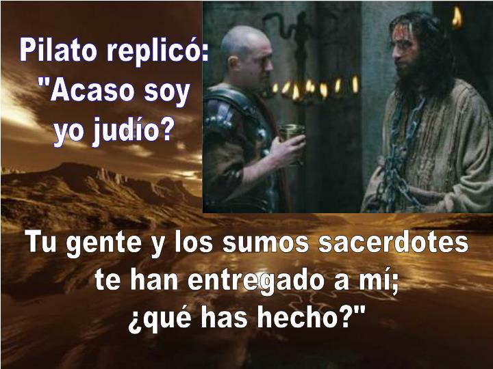 Pilato replicó:
