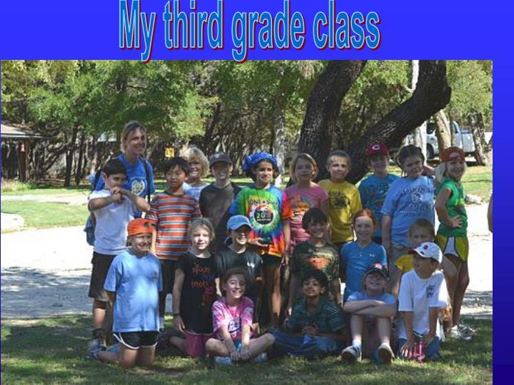 My third grade class