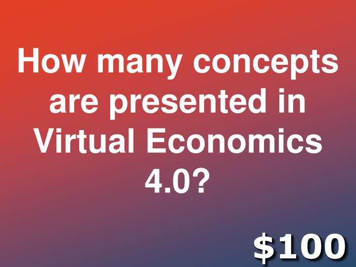 How many concepts are presented in Virtual Economics 4.0?