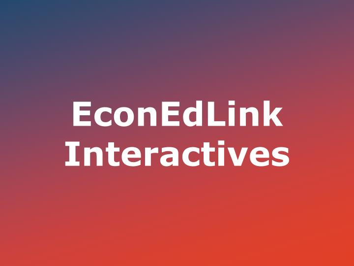 EconEdLink Interactives