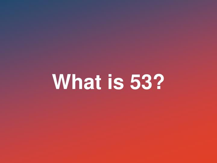 What is 53?