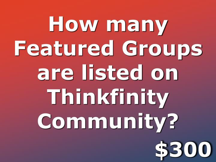 How many Featured Groups are listed on Thinkfinity Community?