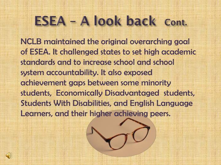 ESEA – A look back