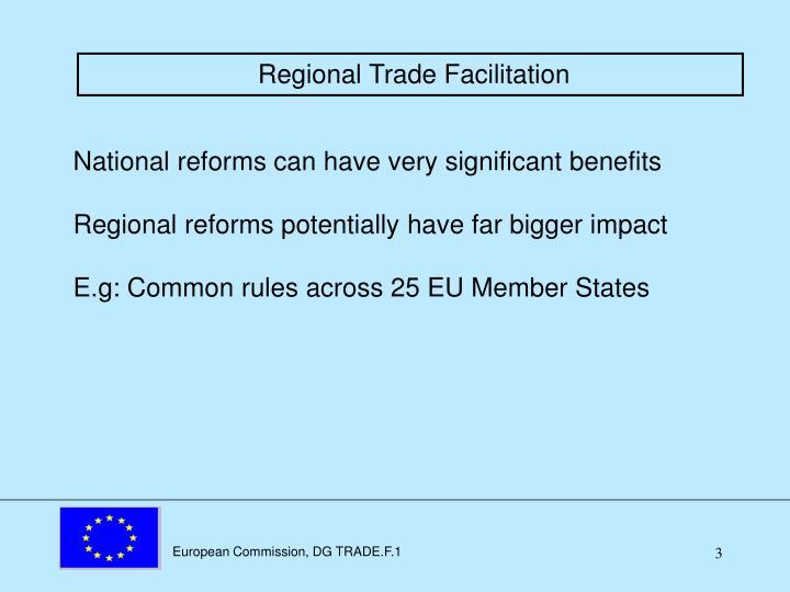 Regional Trade Facilitation