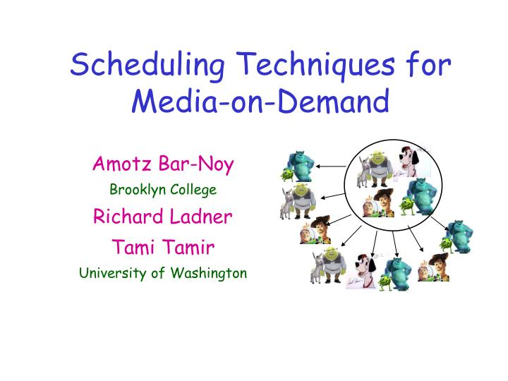 scheduling techniques for media on demand