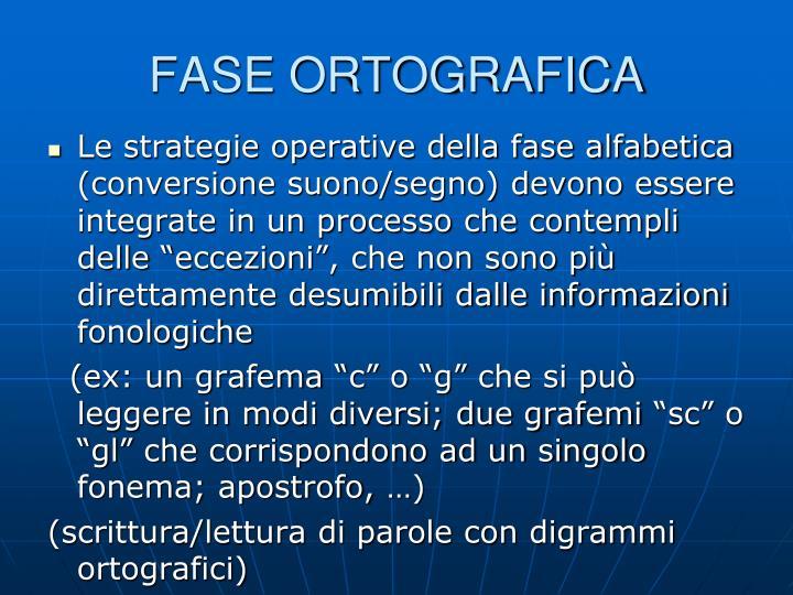 FASE ORTOGRAFICA