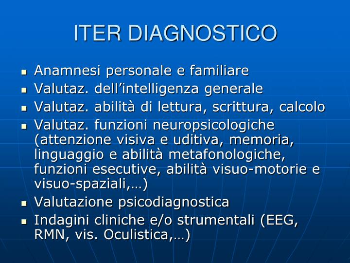 ITER DIAGNOSTICO