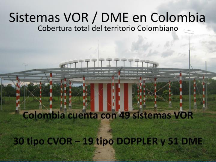 Sistemas VOR / DME en Colombia