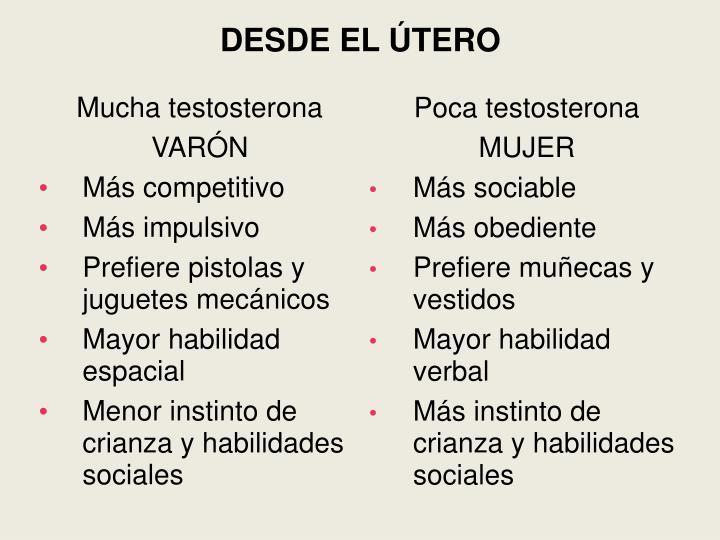 DESDE EL ÚTERO