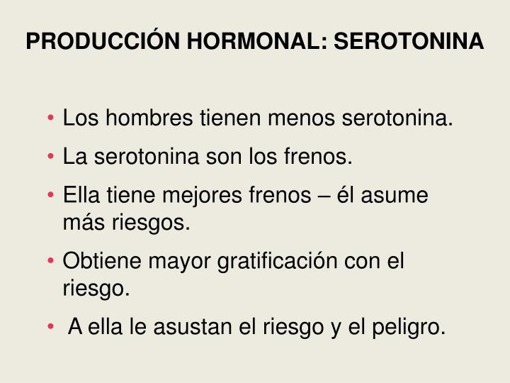 PRODUCCIÓN HORMONAL: SEROTONINA