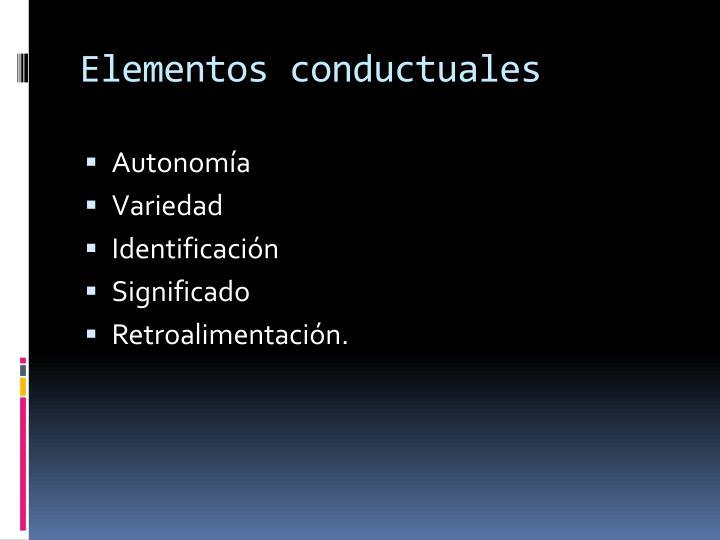 Elementos conductuales