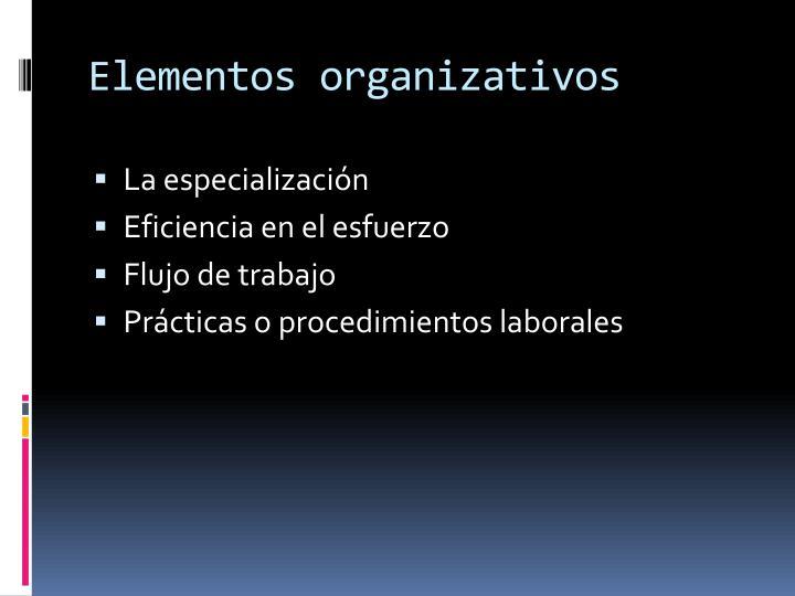 Elementos organizativos