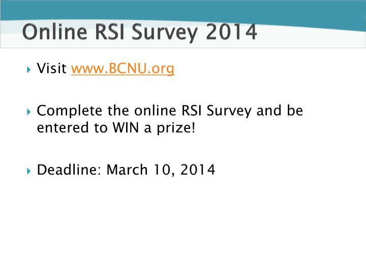 Online RSI Survey2014