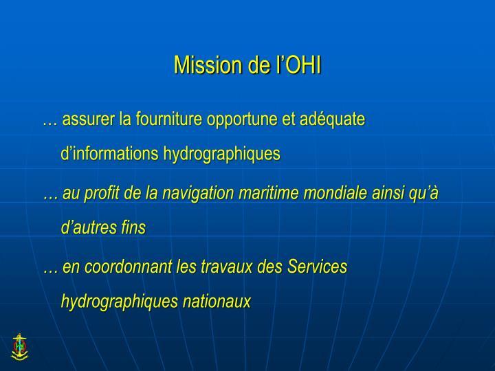 Mission de l'OHI