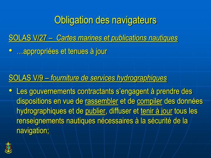 Obligation des navigateurs