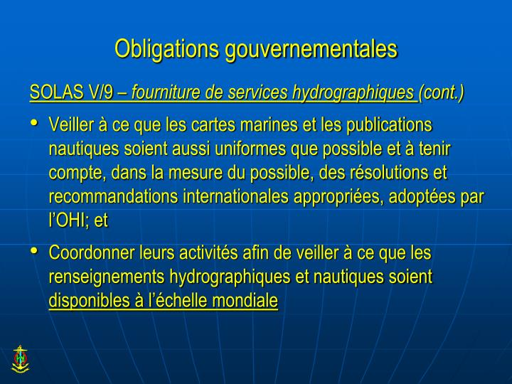 Obligations gouvernementales