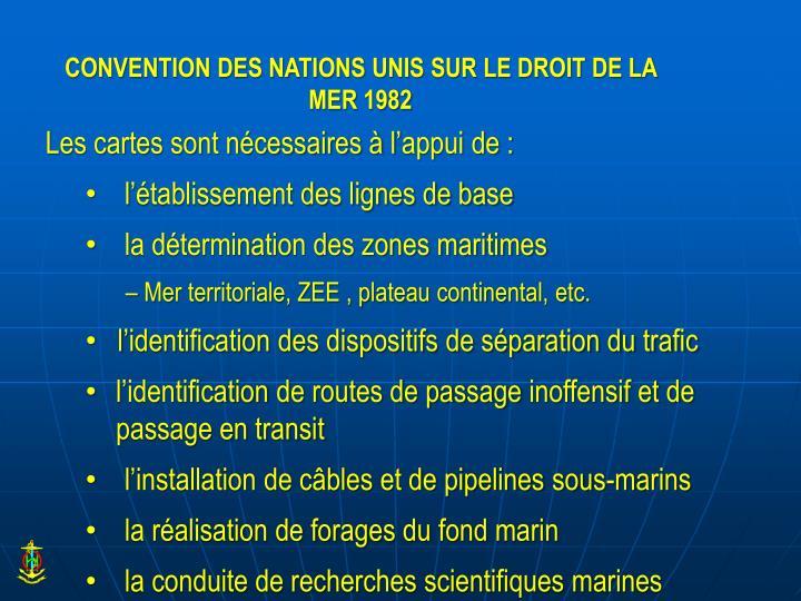 CONVENTION DES NATIONS UNIS SUR LE DROIT DE LA MER 1982