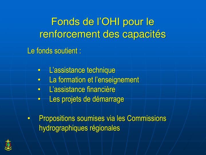Fonds de l'OHI pour le renforcement des capacités