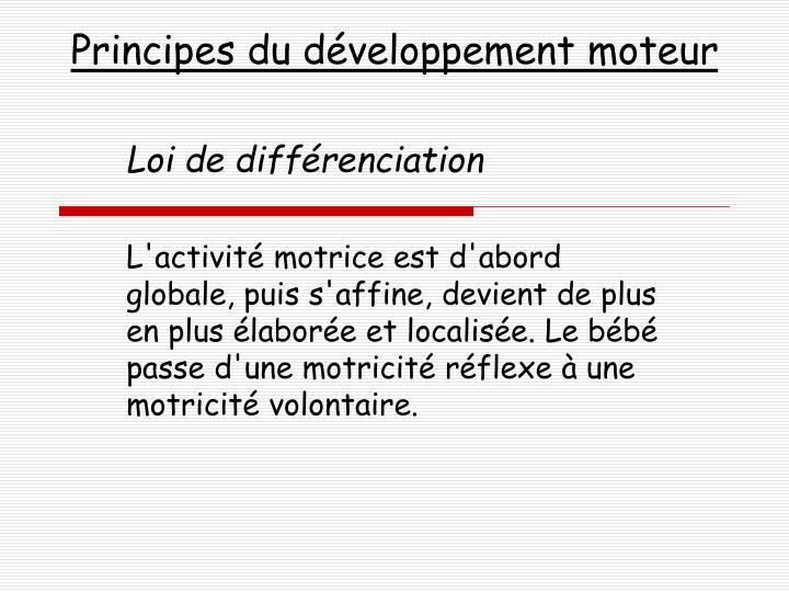 Principes du développement moteur