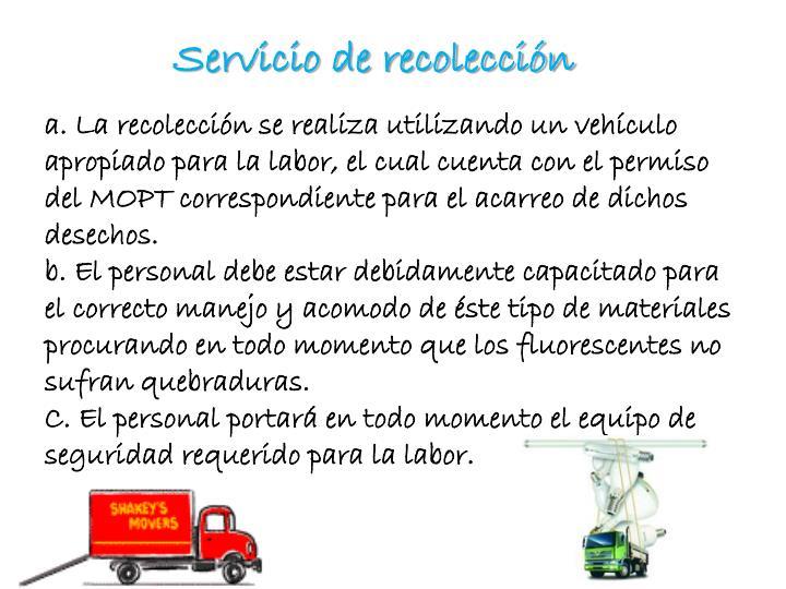 Servicio de recolección