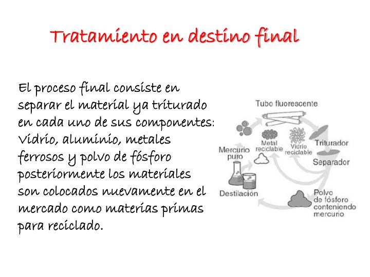 Tratamiento en destino final