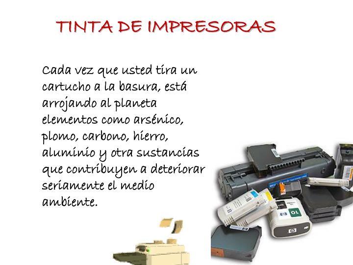 TINTA DE IMPRESORAS