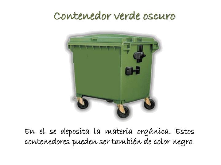 Contenedor verde oscuro