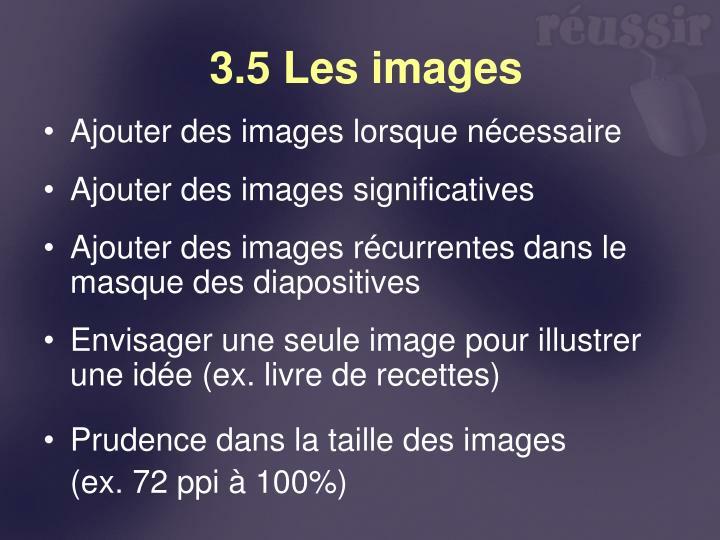 3.5 Les images