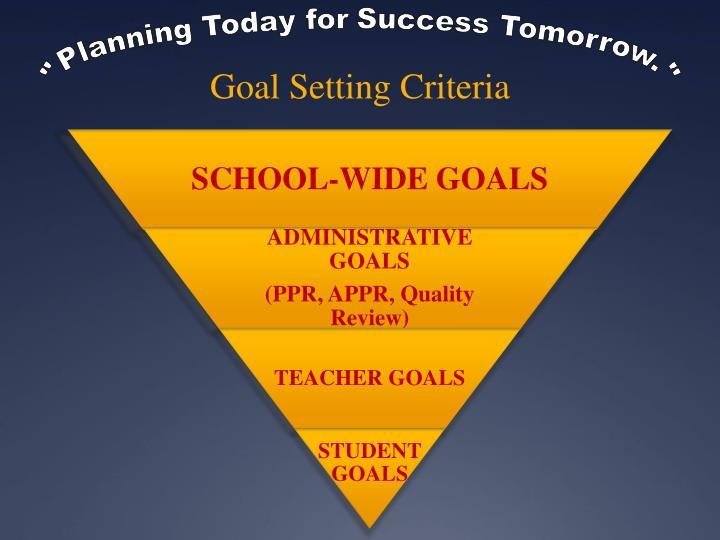 Goal Setting Criteria