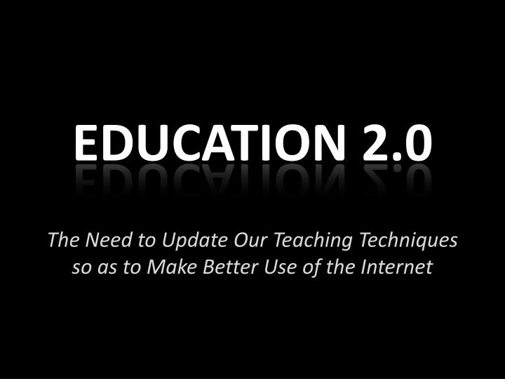 Education 2 0