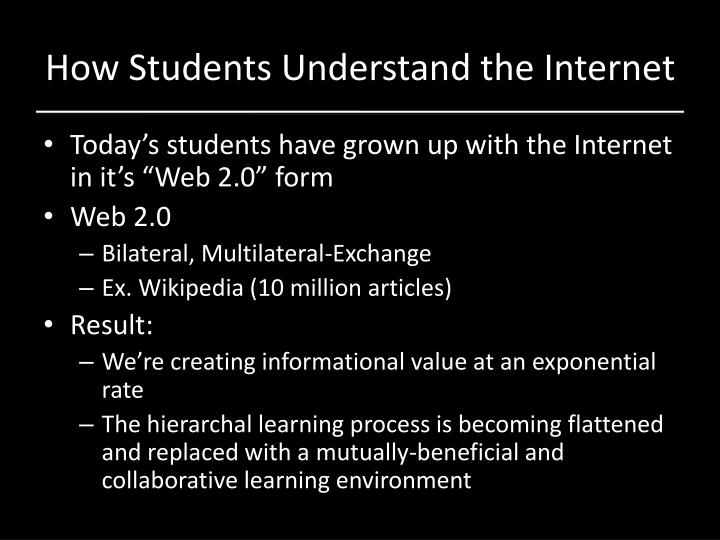 How Students Understand the Internet