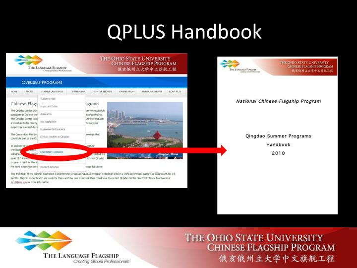 QPLUS Handbook
