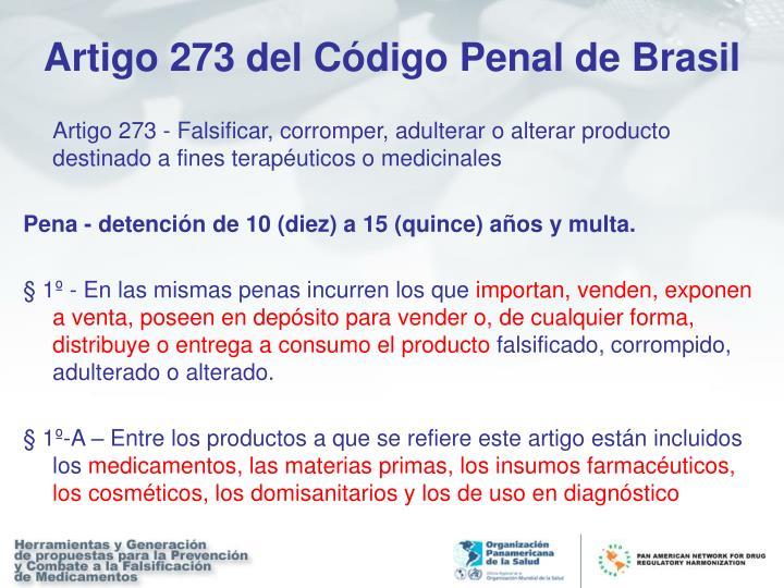 Artigo 273 del Código Penal de Brasil