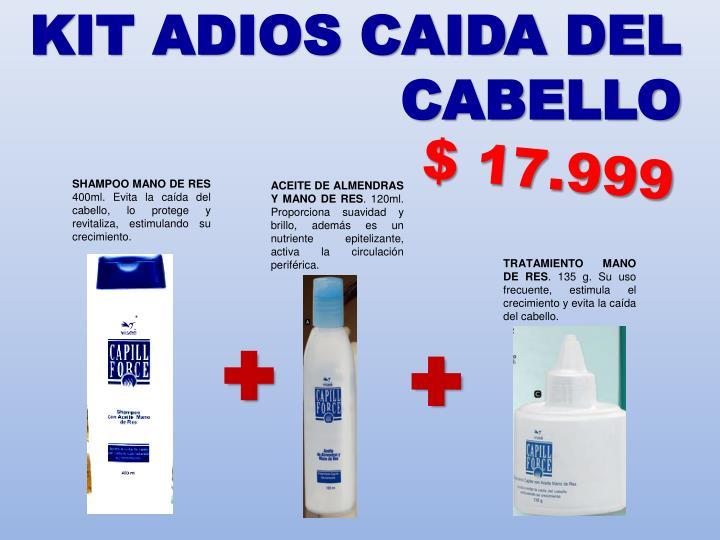 KIT ADIOS CAIDA DEL CABELLO