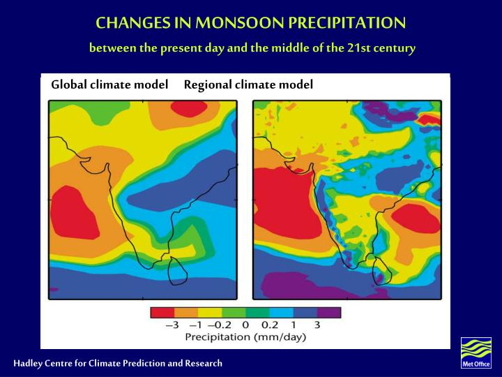 CHANGES IN MONSOON PRECIPITATION