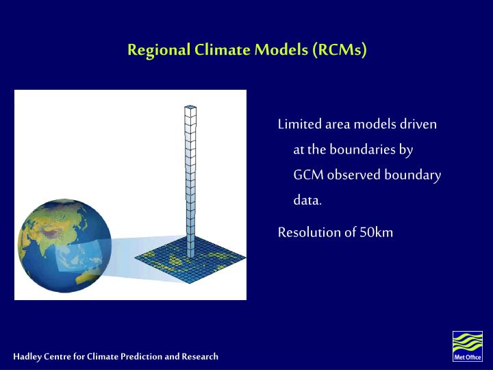 Regional Climate Models (RCMs)