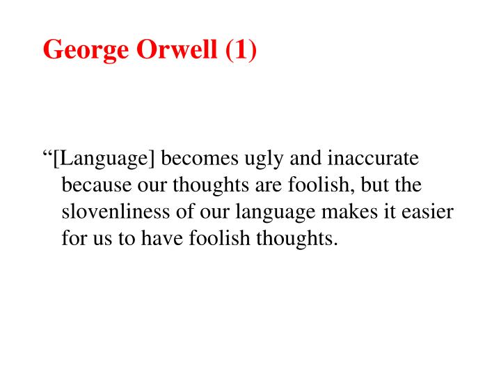 George Orwell (1)