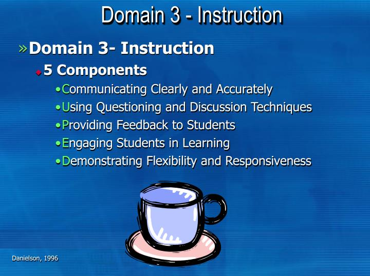 Domain 3 - Instruction