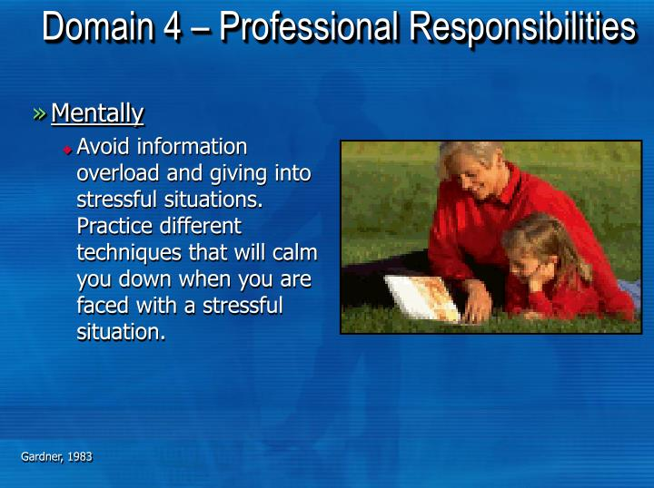 Domain 4 – Professional Responsibilities